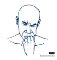 Man thinking about a problem vector image