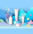 marine cosmetic ads template vector image vector image