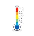mercury thermometer logo colorful temperature vector image