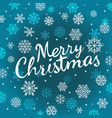 merry christmas calligraphic logo with snowflakes vector image vector image