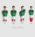 Mexico Soccer Team Sportswear Template vector image vector image