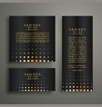 modern golden halftone style banner design vector image vector image