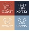 monkey monogram vector image vector image