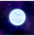 moon on space background vector image vector image