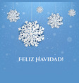 new year postcard with snowflake and text vector image vector image