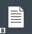 paper glyph icon vector image