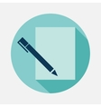 pen and paper vector image vector image