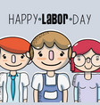 people celebrating labor day holiday vector image vector image