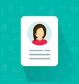 personal info icon isolated vector image vector image