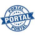 portal round grunge ribbon stamp vector image vector image