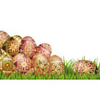 pysanky easter eggs vector image