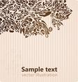 Retro Floral Ornament for Design vector image vector image