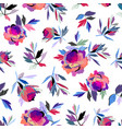 seamless abstract floral pattern pink and violet vector image vector image