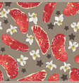 seamless pattern with red citrus fruit slices vector image