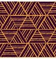 seamless yellow geometric pattern vector image