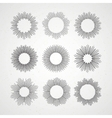 Set of Retro Sun burst shapes vector image vector image
