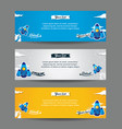 set web banner templates vector image vector image