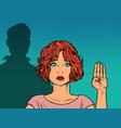 signal for help international gesture help vector image