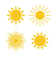 Sun icons set Collection vector image vector image