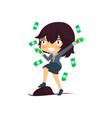 super rich successful businesswoman vector image
