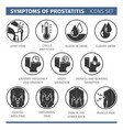 Symptoms of prostatitis infographic vector image
