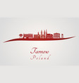 tarnow skyline in red vector image vector image
