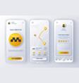 taxi service unique neomorphic design kit vector image