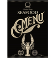 template for restaurant menu with crawfish vector image vector image