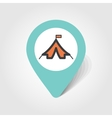 Tent map pin icon vector image