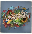 Ukraine hand lettering and doodles elements vector image vector image