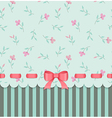 vintage invitation card with bow vector image vector image