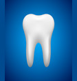 white tooth on blue background stomatology icon vector image