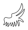 wing angel drawn icon vector image vector image