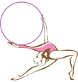 Rhythmic gymnast with a hoop vector image