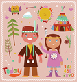Holiday graphics in indian style vector image