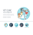 Veterinary clinic web design concept for website vector image