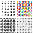 100 delicious dishes icons set variant vector image vector image