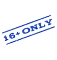 16 Plus Only Watermark Stamp vector image vector image