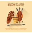 Africa welcome flat icon poster vector image