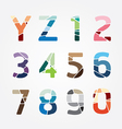 alphabet modern color abstract style Design vector image vector image