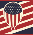 american flag pattern background with balloons vector image vector image