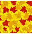 autumn seamless background maple leaves in vector image vector image
