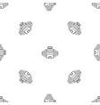 baseball stadium pattern seamless vector image vector image
