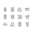 Bathroom black line icons vector image vector image