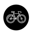 bicycle black icon sign on isolated vector image vector image