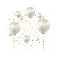 birthday card with white balloons vector image vector image