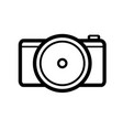 black and white line drawing photo camera vector image