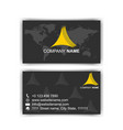 black dark business card modern design vector image