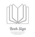 BookL vector image vector image