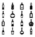 bottles icons set simple style vector image vector image